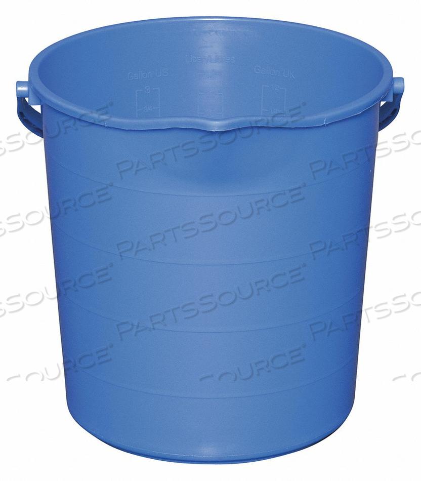J4755 PAIL 3 GAL. POLYPROPYLENE 12-1/2 L BLUE by Tough Guy