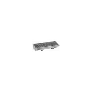 FLOOR TROUGH, 120L X 24W X 4H, FIBERGLASS GRATE DOUBLE DRAIN by Advance Tabco