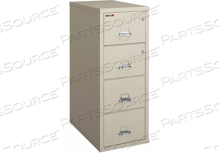 VERTICAL FILE W/ SAFE 4 DRAWER LEGAL by Fire King
