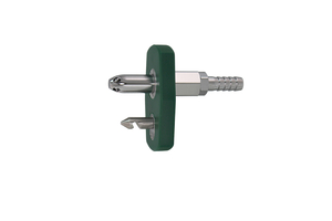 QUICK CONNECT ADAPTER, MALE X 1/4 IN HOSE BARB, GREEN, OXYGEN by Bay Corporation