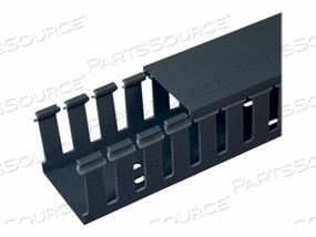 PANDUIT PANDUCT TYPE G WIDE SLOT WIRING DUCT - CABLE RACEWAY SLOTTED DUCT - 6 FT - BLACK (QTY PER PACK: 6) by Panduit