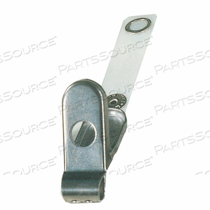 SNAP-ON LARGE CLIP, STAINLESS STEEL, 4.4 IN X 1.55 IN X 2 IN by Anacom MedTek