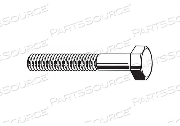 HHCS 1/4-28X1 STEEL GR 5 PLAIN PK1200 by Fabory