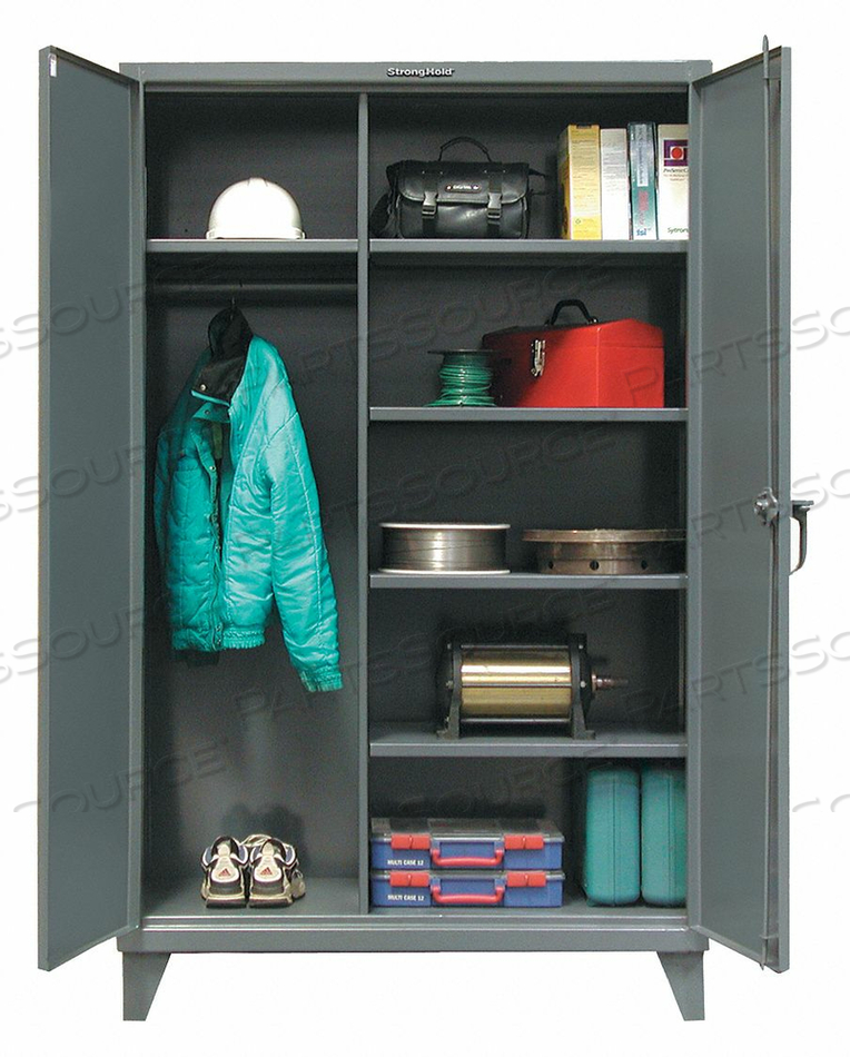 COMBO WARDROBE CAB 66 H 48 W DARK GRAY by Strong Hold