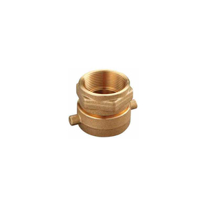 FIRE HOSE DOUBLE FEMALE SOLID ADAPTER - 2-1/2 NH X 2-1/2 IN. NPT - BRASS by Moon American