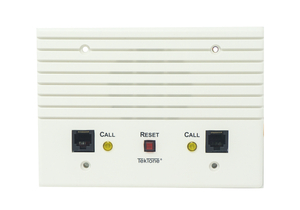 DUAL PATIENT STATION WITH TWO 8-PIN JACKS FOR PILLOW SPEAKER, CALL-PLACED AND PRIVACY INDICATORS, CANCEL BUTTON by TekTone Sound & Signal Mfg., Inc.