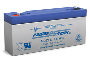 6V 7AH SLA BATTERY - F1 TERMINAL .187 FASTON by Power Sonic