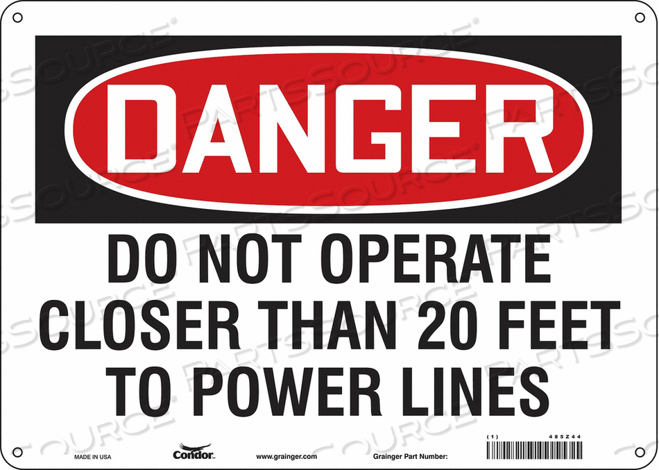 ELECTRICAL SIGN 14 W 10 H 0.032 THICK by Condor