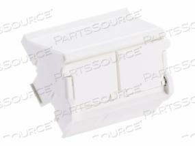 PANDUIT NETKEY CLASSIC SERIES - MODULAR INSERT HOUSING - WHITE - 2 PORTS (QTY PER PACK: 10) by Panduit