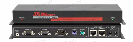 DUAL VIDEO HEAD KVM AUDIO AND SERIAL OVER UTP EXTENSION SYSTEM WITH SENDER AND RECEIVER