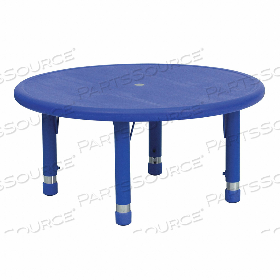 PRESCHOOL ACTIVITY TABLE BLUE ROUND 33 by Flash Furniture