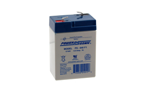 BATTERY, SEALED LEAD ACID, 6V, 4.5 AH, FASTON (F1) by R&D Batteries, Inc.