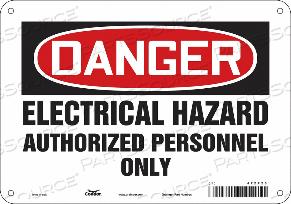 J6925 SAFETY SIGN 10 W 7 H 0.055 THICKNESS by Condor