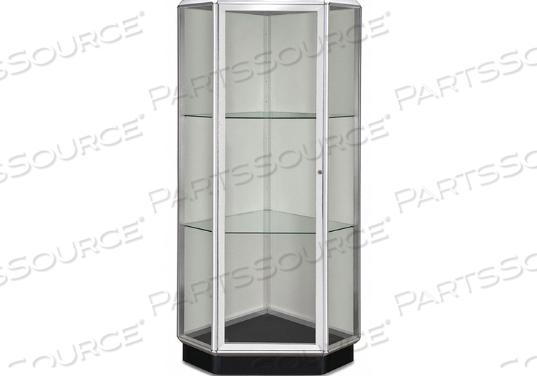 DISPLAY CASE 77X28X28 CHROME by Waddell Display