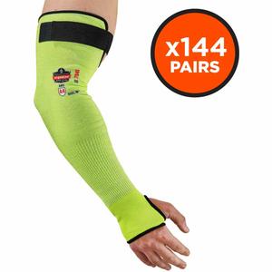 "PROFLEX 7941 HI-VIS CUT-RESISTANT PROTECTIVE ARM SLEEVE, 18"", 144 PAIR, LIME by Ergodyne"