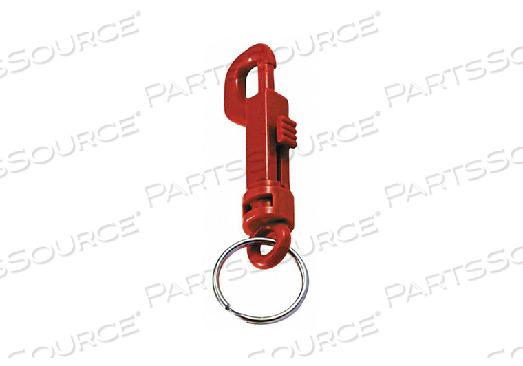PLASTIC KEY CLIP PLASTIC RED PK25 by Lucky Line Products