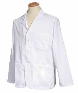 LAB COAT S WHITE 28-1/2 IN L by Fashion Seal