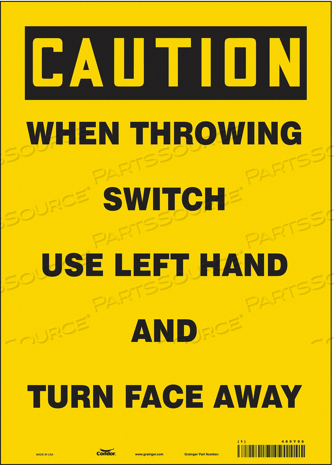 ELECTRICAL SIGN 10 W 14 H 0.004 THICK by Condor