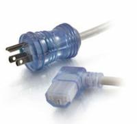 POWER CORD, 12 FT, 13 A, 125 V, 16 AWG, NEMA 5-15P TO IEC 320-C13 RIGHT ANGLE, HOSPITAL GRADE by Legrand AV (C2G)