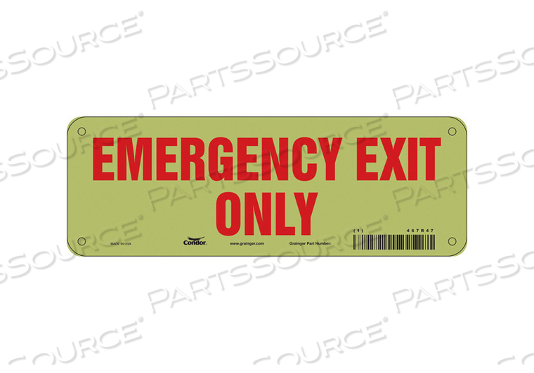 SAFETY SIGN 3.5 X10 VINYL by Condor
