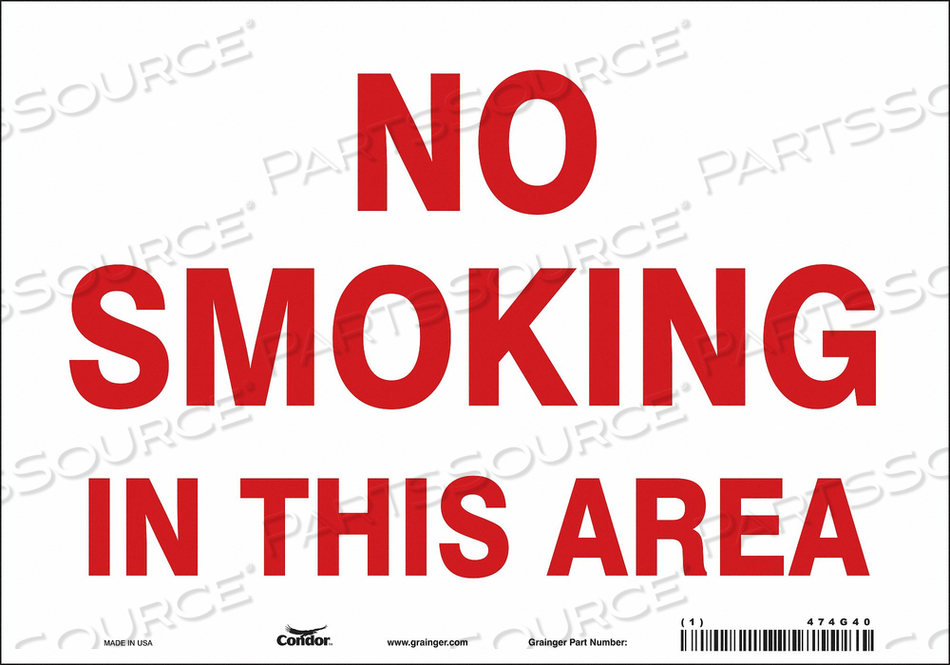 J7016 SAFETY SIGN 10 W 7 H 0.004 THICKNESS by Condor