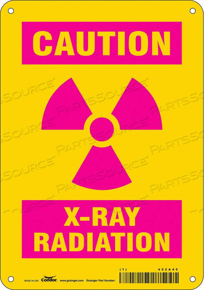 RADIATION SIGN CAUTION HEADER 10 H by Condor