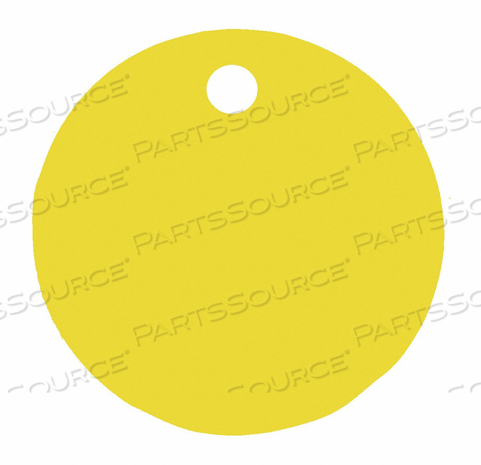 BLANK TAG ROUND YELLOW PK5 by C.H. Hanson