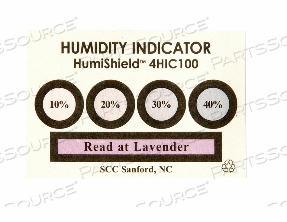 HUMIDITY INDICATOR PK100 by SCS