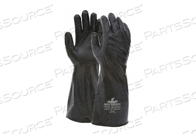 CHEMICAL RESISTANT GLOVE L BLACK PR by MCR Safety