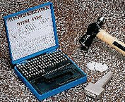 STEEL TYPE MARKING KIT W/ HOLDER 1/8IN by Young Bros. Stamp Works, Inc.