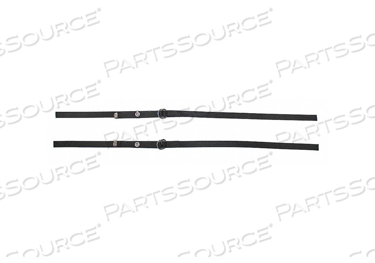 PERMANENT SECURITY STRAPS NYLON BLACK by Myton Industries