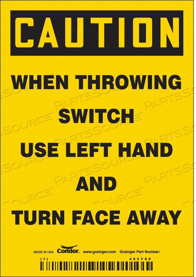 ELECTRICAL SIGN 3-1/2 W 5 H 0.004 THICK by Condor
