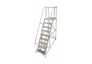 ROLLING LADDER STEEL 120IN. H. GRAY by Cotterman