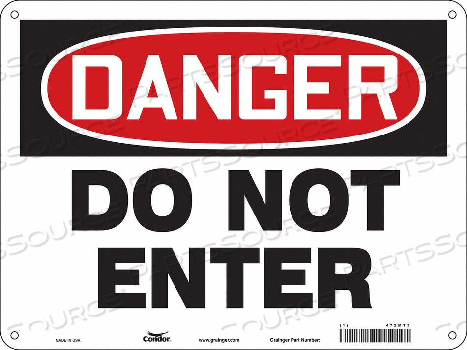 J6922 SAFETY SIGN 24 W 18 H 0.032 THICKNESS by Condor