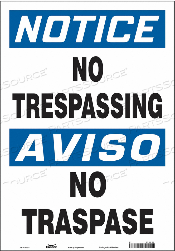 J7002 SAFETY SIGN 14 W 20 H 0.004 THICKNESS by Condor