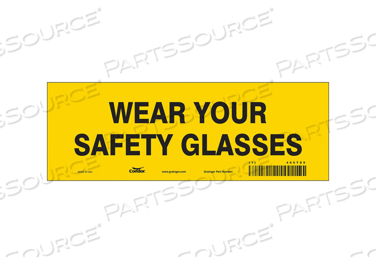 SAFETY SIGN 10 W 3-1/2 H PK10 by Condor