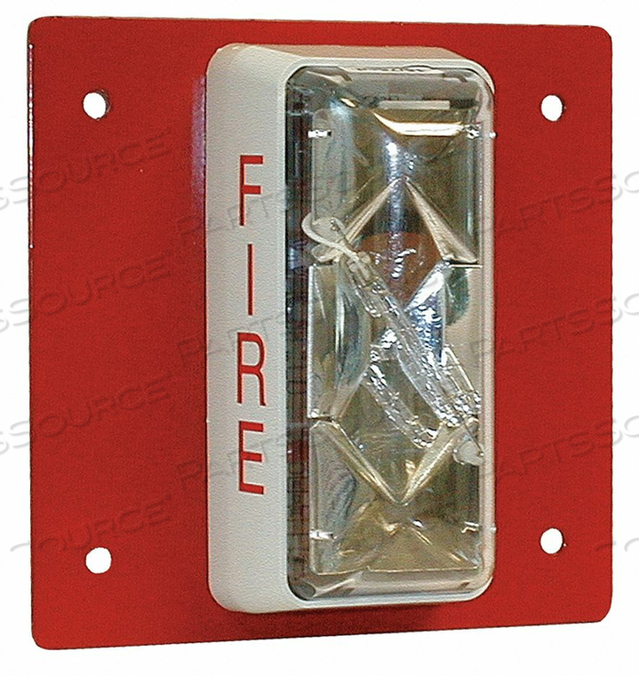 STROBE STEEL RED by Edwards Signaling