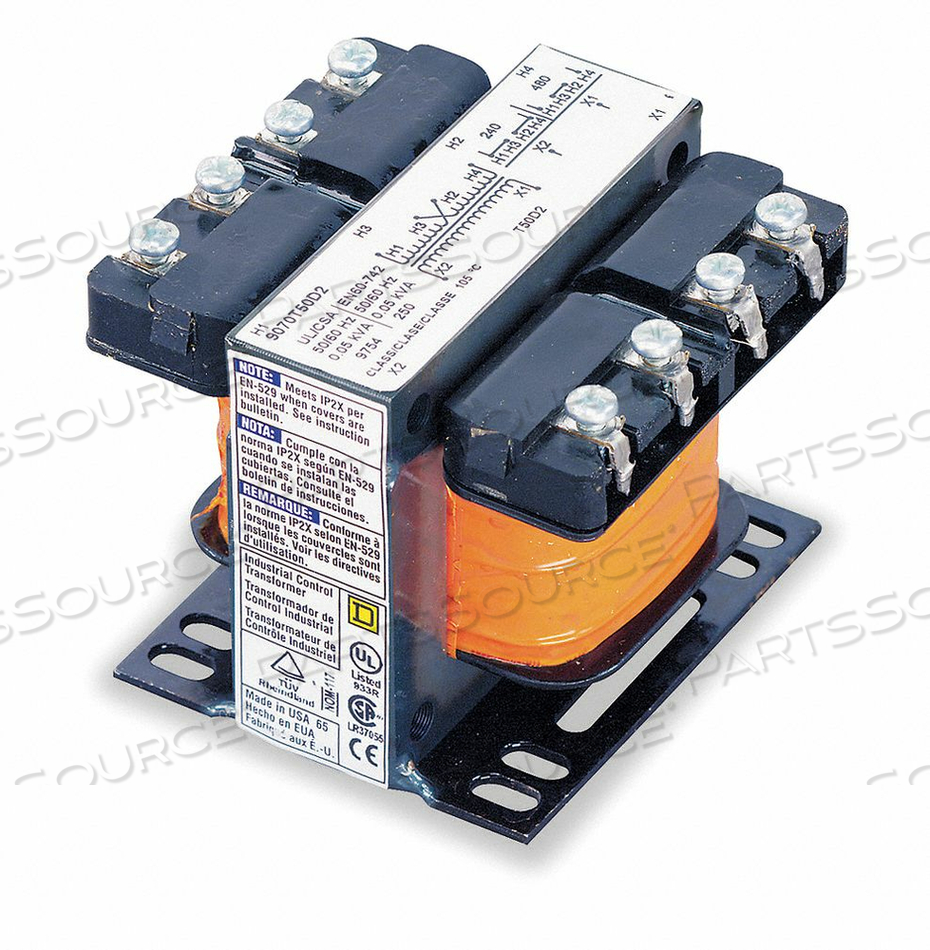 CONTROL TRANSFORMER 300VA 6.40 IN H by Square D