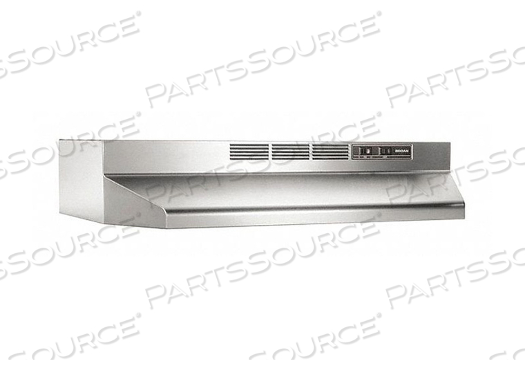 STAINLESS STEEL NON-DUCTED RANGE HOOD by Broan