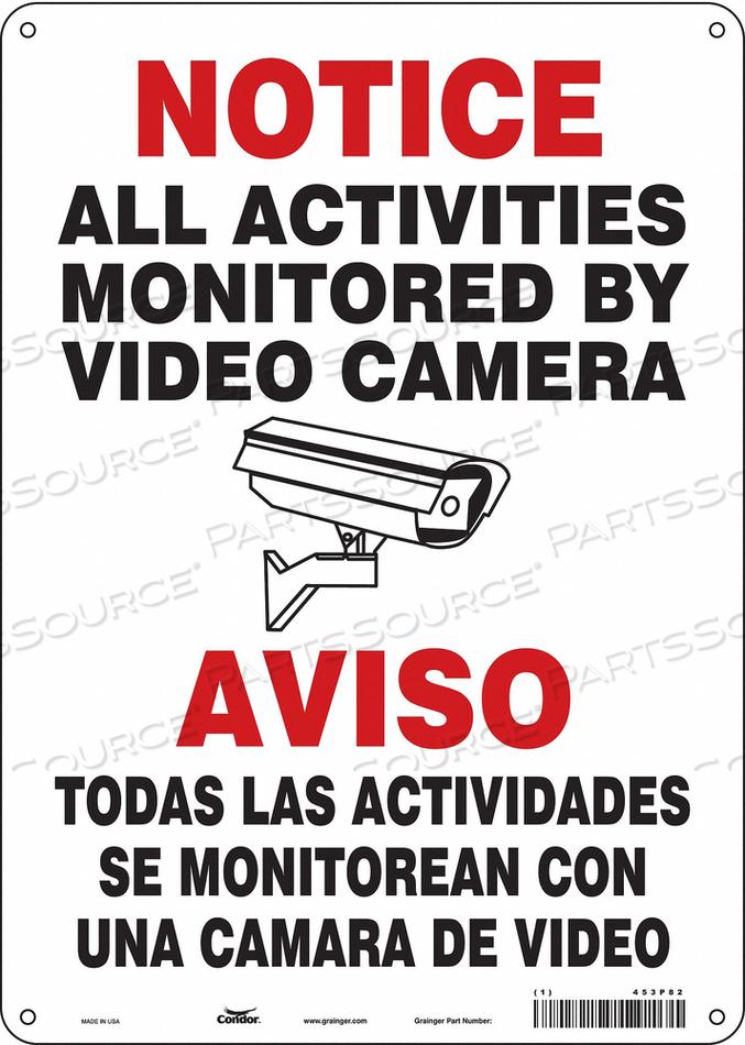 SECURITY SIGN 14 H 10 W ALUMINUM by Condor