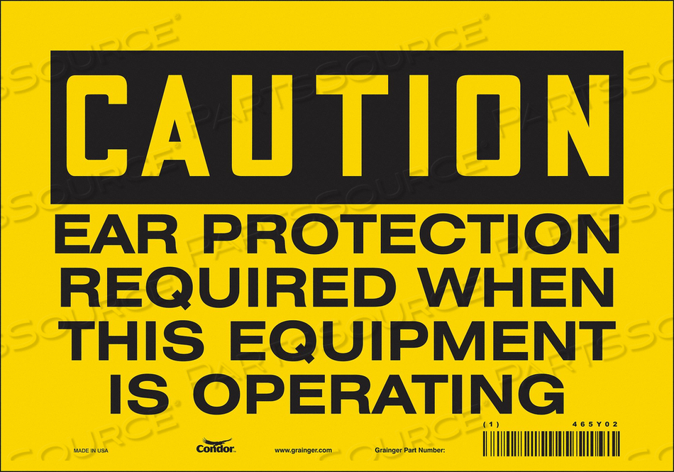 K0276 SAFETY SIGN 10 W 7 H 0.004 THICKNESS by Condor