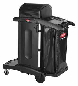 JANITOR CART RUBBER CASTER 3 SHELVES by Rubbermaid Medical Division