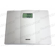 DIGITAL FLOOR SCALE, 400 LB X 0.1 LB, 1 -1/2 IN LCD DISPLAY, 2/PACK by Health o meter Professional Scales