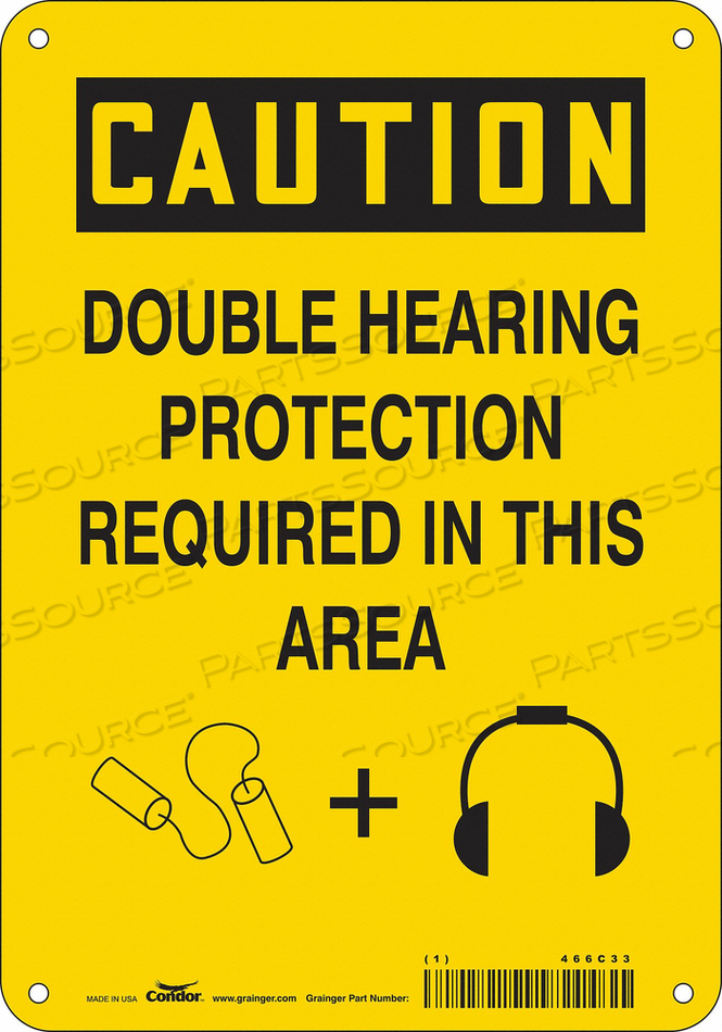 J6949 SAFETY SIGN 7 W 10 H 0.032 THICKNESS by Condor