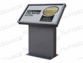 "PEERLESS-AV XTREME OUTDOOR LANDSCAPE KIOSK KOL549-XTR - STAND FOR MEDIA PLAYER / LCD DISPLAY - STEEL - TEXTURED BLACK - SCREEN SIZE: 49"" - FLOOR-STANDING"