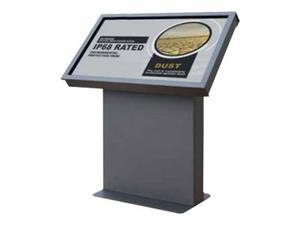 "PEERLESS-AV XTREME OUTDOOR LANDSCAPE KIOSK KOL549-XTR - STAND FOR MEDIA PLAYER / LCD DISPLAY - STEEL - TEXTURED BLACK - SCREEN SIZE: 49"" - FLOOR-STANDING by Peerless Industries, Inc."
