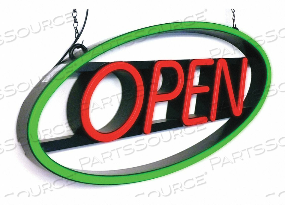 LED OPEN SIGN 27 L PLASTIC 2 W by CM Global