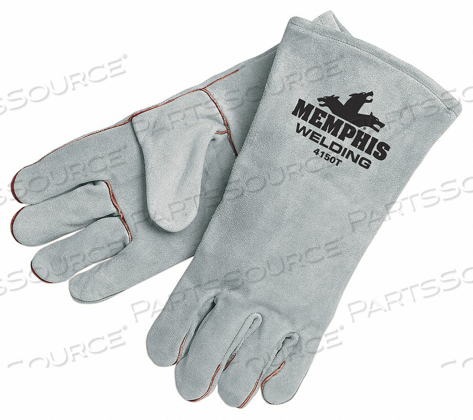 WELDING LEATHER GLOVE GRAY XL PK12 by MCR Safety