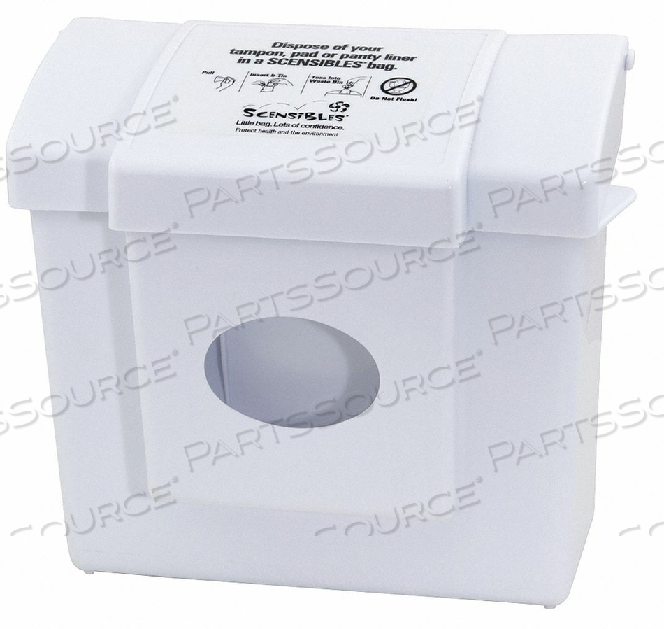 SANITARY RECEPTACLE AND LINER 9-3/4 H by Hospeco