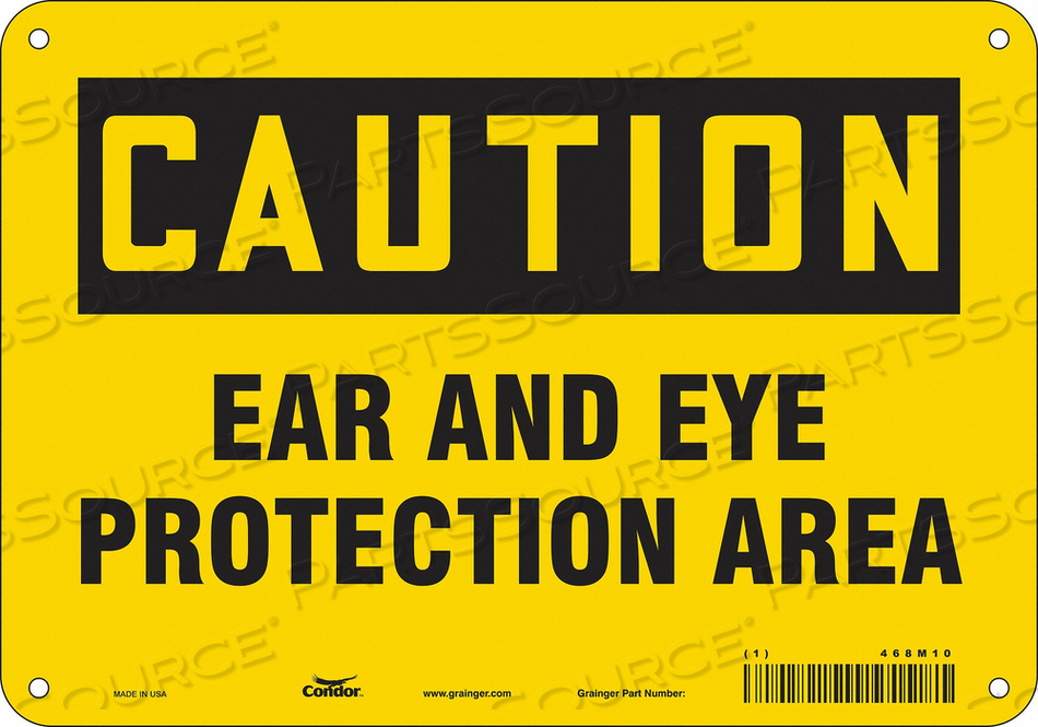 SAFETY SIGN 10 WX7 H 0.055 THICKNESS by Condor